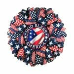 Patriotic Mesh Wreath