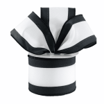 Black and White Stripe Ribbon