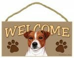 Jack Russell Welcome Sign