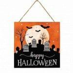 Happy Halloween Graveyard Sign