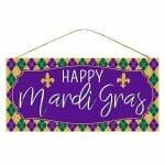 Happy Mardi Gras Sign