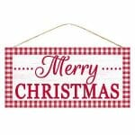 Red Merry Christmas Sign