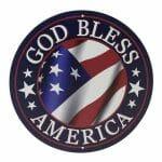 God Bless America Round Sign