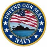 US Navy Round Sign