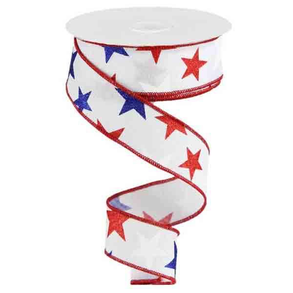 1.5 inch Patriotic Stars Ribbon