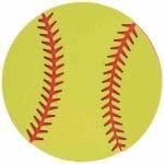 Softball Painted Wood Cutout