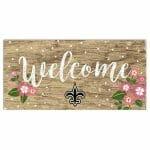 New Orleans Saints Floral Sign