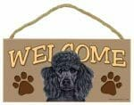 Black Poodle Welcome Sign