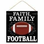 Faith Family Football Sign