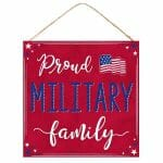 Proud Military Family Sign