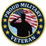 US Veteran Round Sign