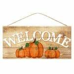 Welcome Pumpkins Sign