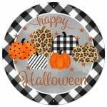 Happy Halloween Round Sign