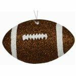 Glitter Football Ornament