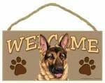 German Shepherd Welcome Sign