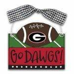 Georgia Bulldogs Football Ornament