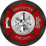 Firefighter Round Sign