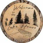 Lake House Round Sign