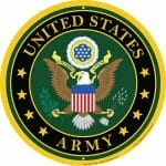 Army Round Sign